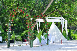HiltonSeychellesLabrizResort Wedding Setup Red